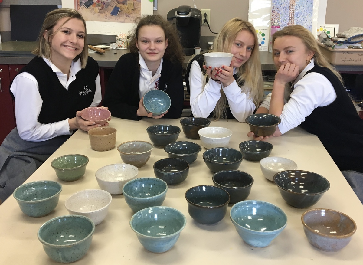 Ceramics Students Give Back