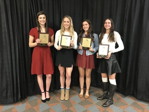 Volleyball Players and Coach Shine at Big 56 Banquet